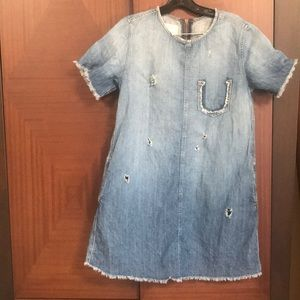 Current Elliott denim distressed dress